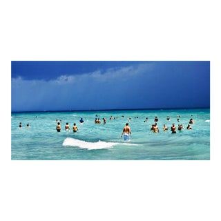 """Cheryl Maeder """"Bathers Coming & Going"""" Photographic Watercolor Print"""