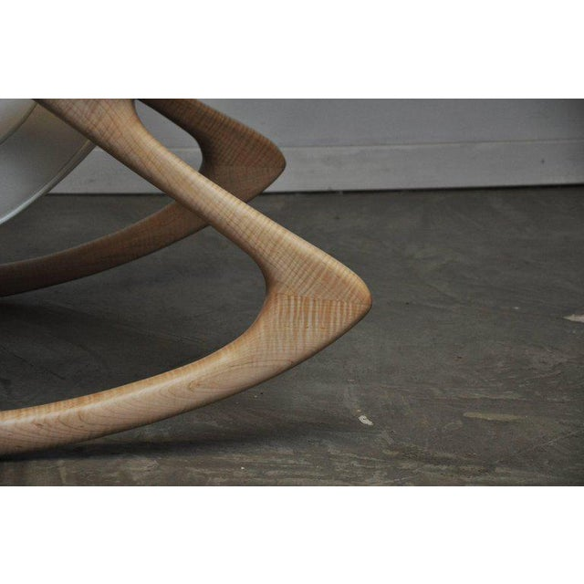 """Vladimir Kagan """"Erica Rocking Chair"""" with Rare Maple Frame, circa 1960s For Sale - Image 9 of 10"""