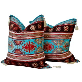 Southwestern Style Down Filled Pillows - a Pair