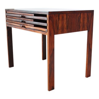 Nest of Three Rosewood Folding Tables by Illum Wikkelsø For Sale