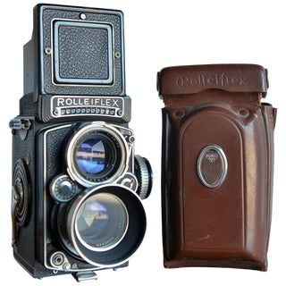 1958 Rolleiflex 2.8e Tlr Camera With Case and Accessories For Sale