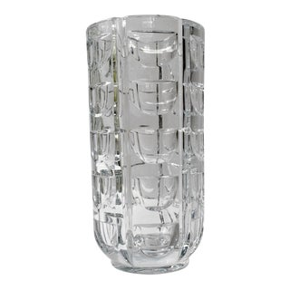 Orrefors Thousand Windows Design Crystal Vase