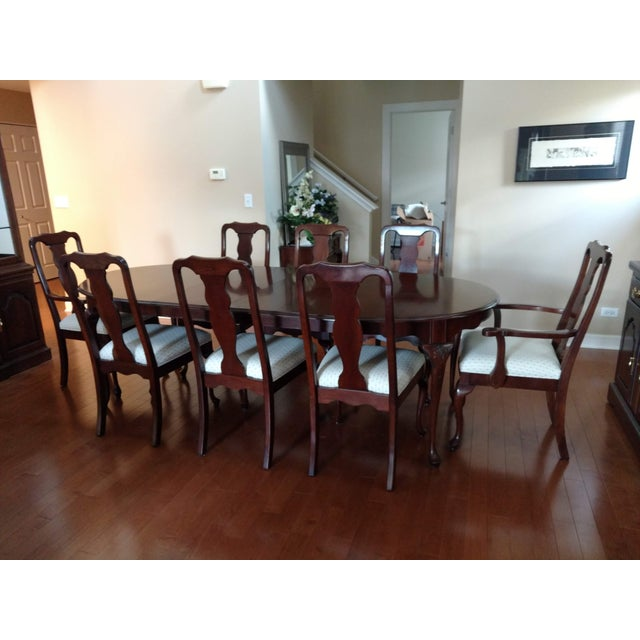 Harden Furniture Harden Solid Cherry Oval Table & Chairs Dining Set For Sale - Image 4 of 5