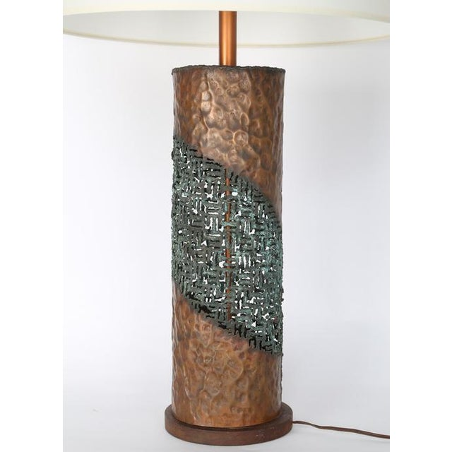 1960s MARCELLO FANTONI TORCH-CUT TABLE LAMP For Sale - Image 5 of 8