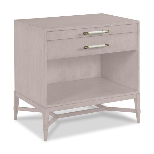 Modern Shea Bedside Table, Elephant Gray For Sale - Image 3 of 3