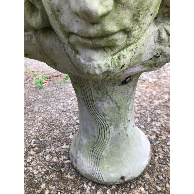 1920s Early 20th C. French Medusa Head, Faces, and Snakes Cement Planters - a Pair For Sale - Image 5 of 12