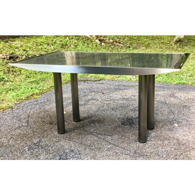Metal Stanley Friedman Stainless Steel Dining Table for Brueton For Sale - Image 7 of 13