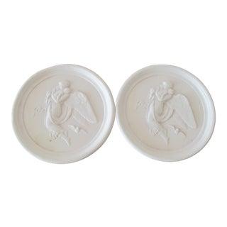 Pair of Vintage Bisque Plaster Intaglios For Sale