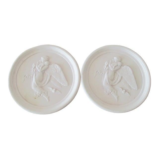 Vintage Bisque Plaster Intaglios - a Pair For Sale