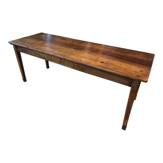 19th Century Country Cherry Farm Table For Sale