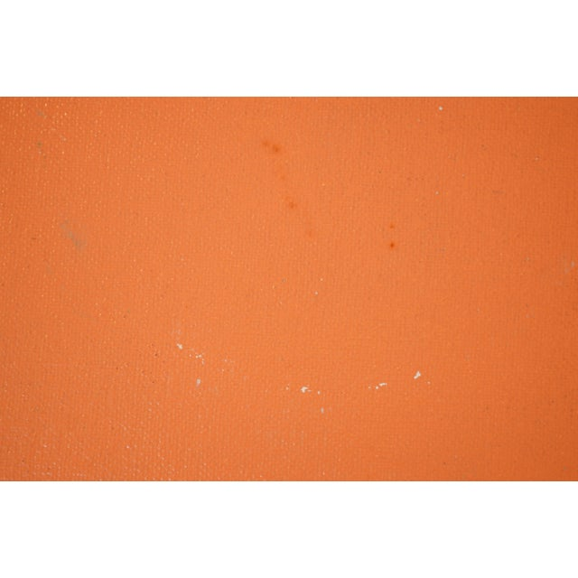 Contemporary Contemporary Orange Grass Cloth Coffee Table For Sale - Image 3 of 4