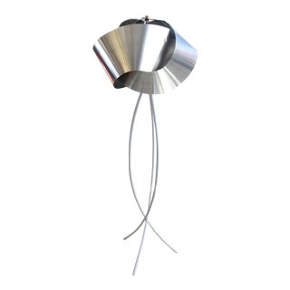 Hand Made Knot Metal Shade Floor Lamp For Sale