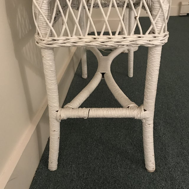 Vintage Wicker Plant Stand For Sale - Image 10 of 13