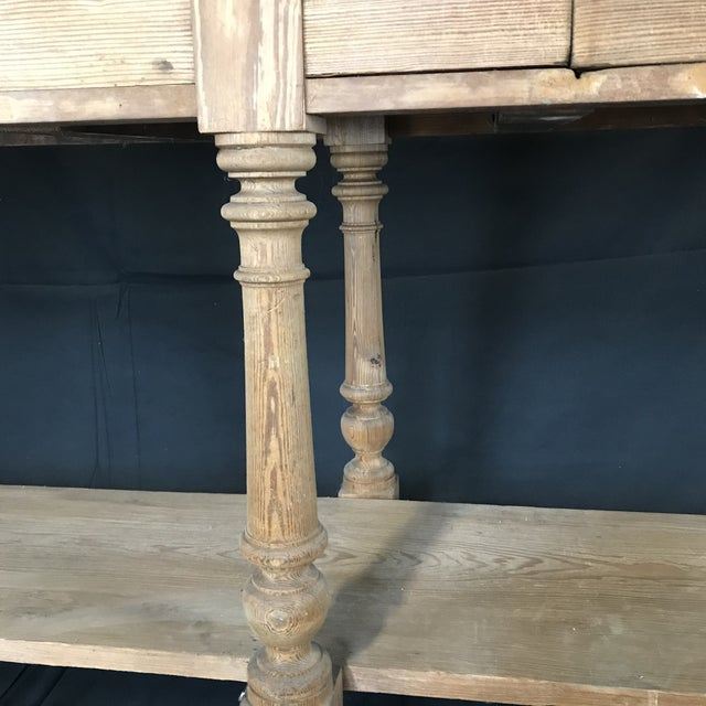 French Mid 19th Century Antique French Pine Sideboard For Sale - Image 3 of 12