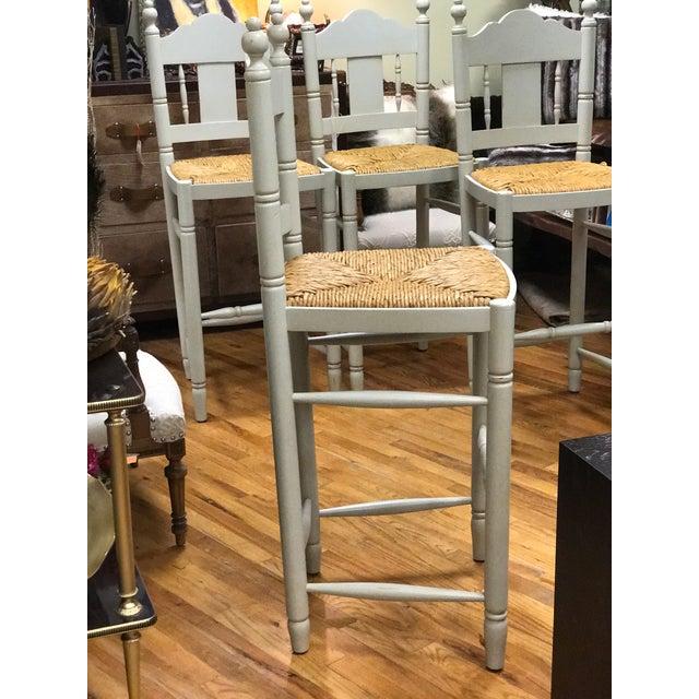 Nantucket Style Bar Stools - Set of 4 - Image 6 of 9