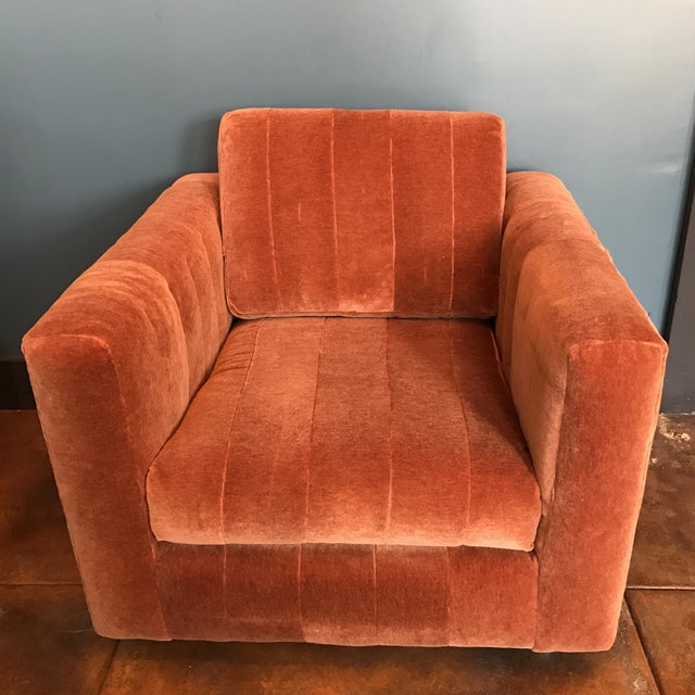 Contemporary Mohair Club Chair - Image 2 of 5