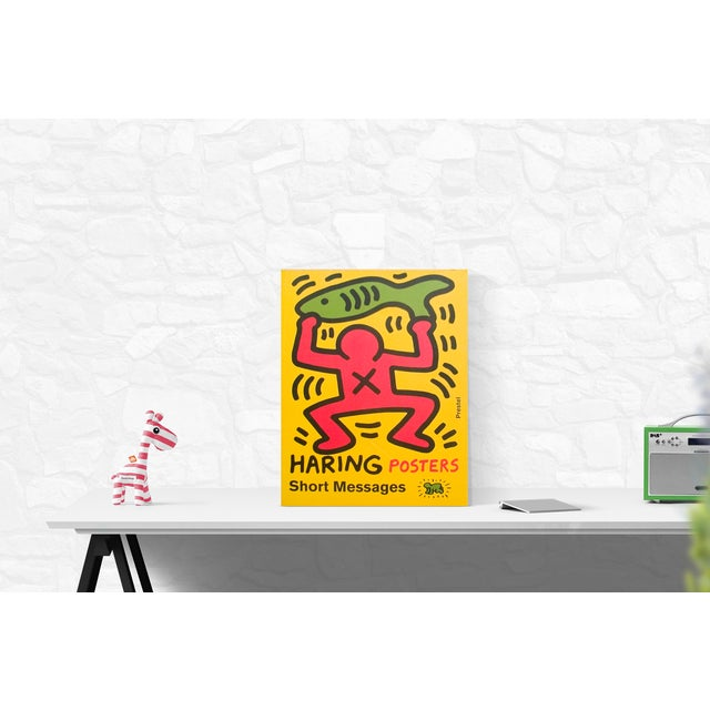Illustration 2003 Keith Haring 'Haring Posters Short Messages' Pop Art Green,Yellow,Pink Usa Book For Sale - Image 3 of 4