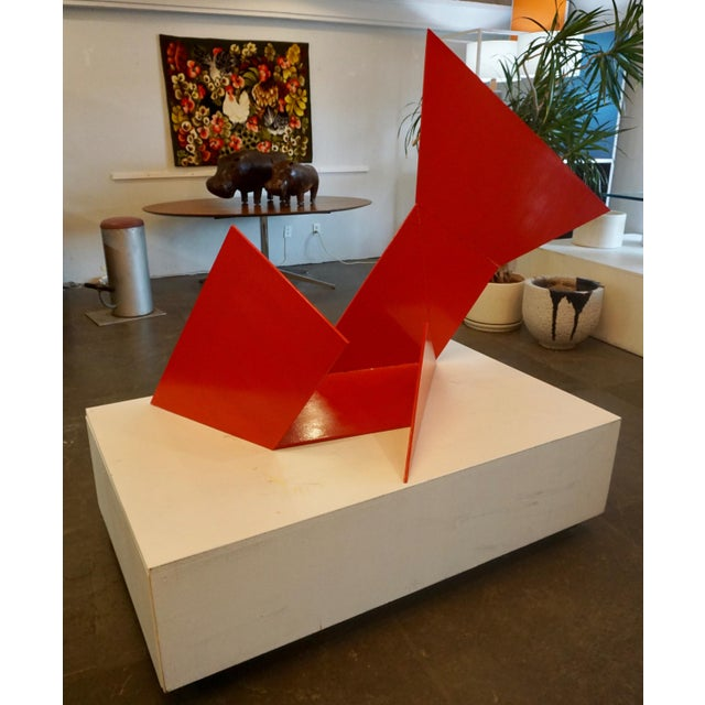 Metal Abstract Steel Sculpture by Betty Gold For Sale - Image 7 of 7