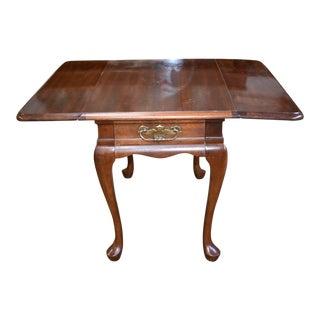 Vintage Queen Anne Mersman Drop Side Table For Sale