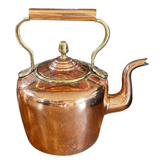 Vintage English Copper Tea Kettle For Sale
