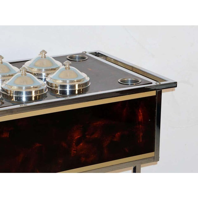 Italian Chrome and Faux Tortoise Ice Cream Cart For Sale - Image 9 of 13