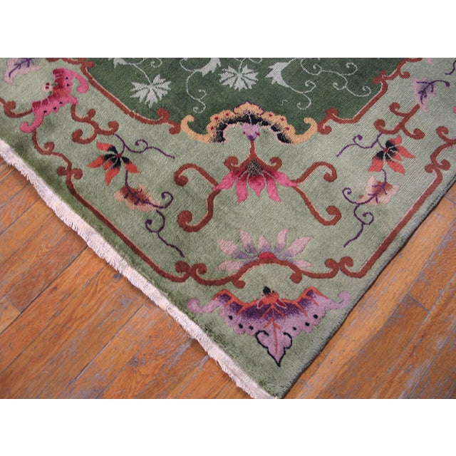 Antique Chinese Art Deco Rug For Sale - Image 4 of 9