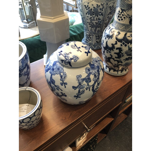 Chinese Barclay Butera Blue & White Ginger Jar For Sale - Image 3 of 6