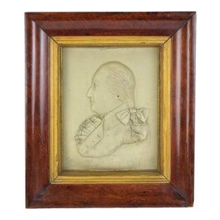 1797 Antique George Rouse Gen. George Washington Wax Portrait For Sale