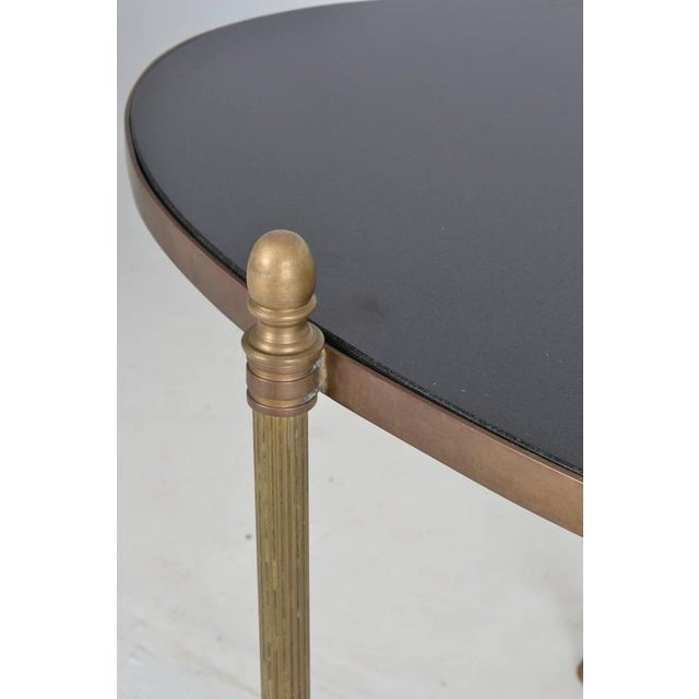 Gold Neoclassical Style Brass and Black Granite Cocktail Table For Sale - Image 8 of 9