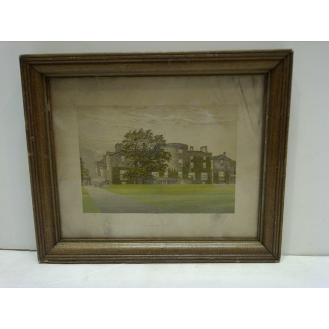 "This is a Vintage Print -- Titled ""Galloway House"" -- Circa 1930 -- The Print Is Framed And Ready For Display."