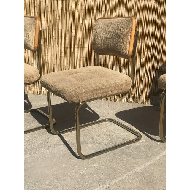 1960s Mid Century Marcel Breuer by Knoll Dining Chairs- Set of 4 For Sale - Image 5 of 7