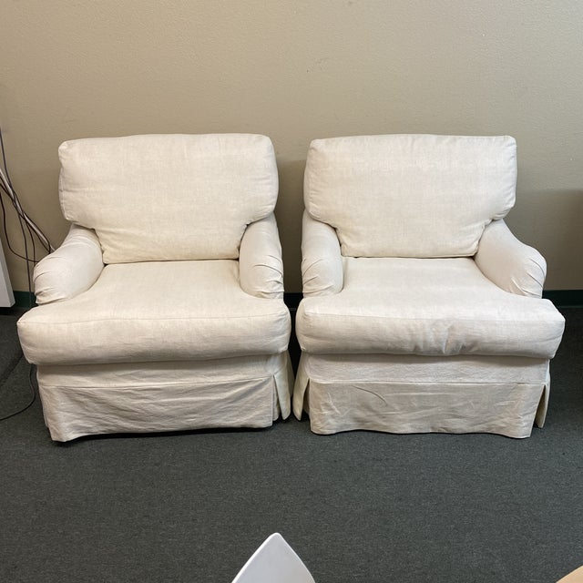 Cisco Bros Charleston Slipcover Armchairs - a Pair For Sale - Image 11 of 11