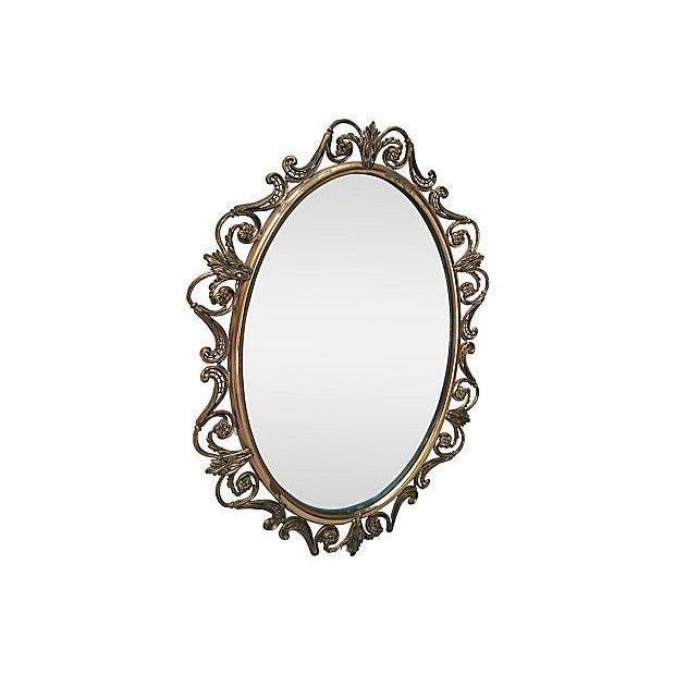 Brass Convex Mirror - Image 3 of 8