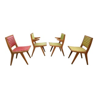 1950s Vintage Dan Johnson for Hayden Hall Dining Chairs- Set of 4 For Sale