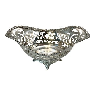 Antique Tiffany and Co. Sterling Filigree Bon Bon Dish For Sale