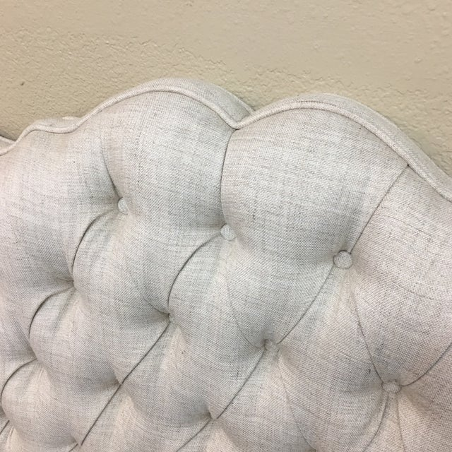 Tufted Linen Full Size Headboard - Image 3 of 6