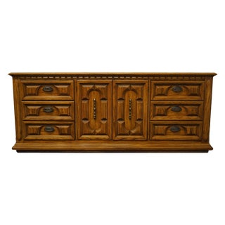 "Thomasville Furniture Costa Del Sol Collection Spanish Mediterranean Style 78"" Triple Door Dresser 5711-140 For Sale"