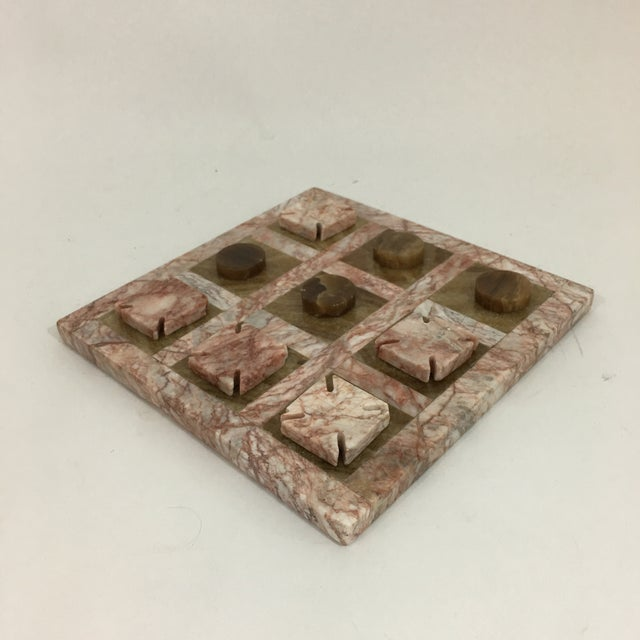 Pink Stone Tic Tac Toe Game Board For Sale - Image 9 of 9