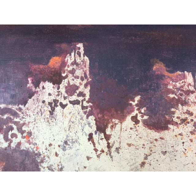 Mid Century Abstract Oil Painting by Anthony Vaiknoras For Sale In Miami - Image 6 of 10