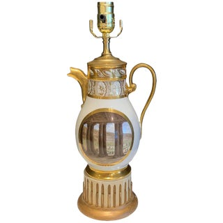 19th Century Old Paris Topographical Coffee Pot, Now as a Lamp For Sale