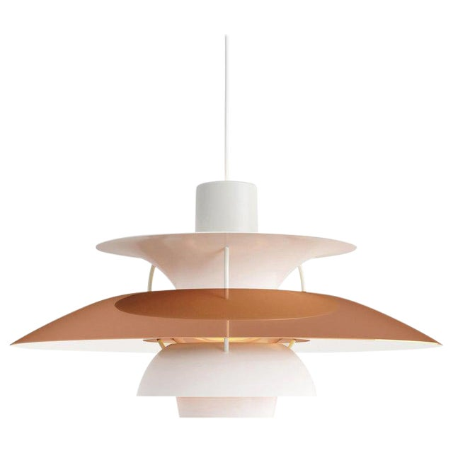Scandinavian Modern Poul Henningsen Ph 5 Copper Pendant for Louis Poulsen For Sale