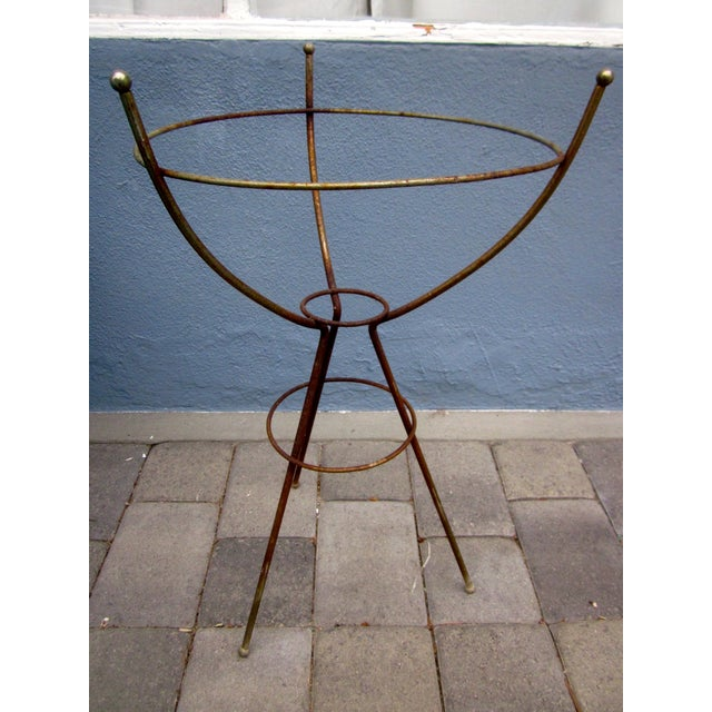 Mid Century Modern Atomic Wire Plant Stand Tripod - Image 6 of 11