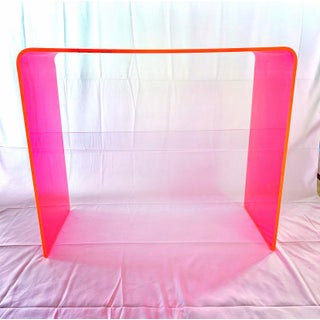 """Custom """"The Tall Order"""" Console Table in Neon Pink Preview"""