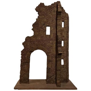 Georgian Style Miniature Wood Model of Ruins 1870 For Sale