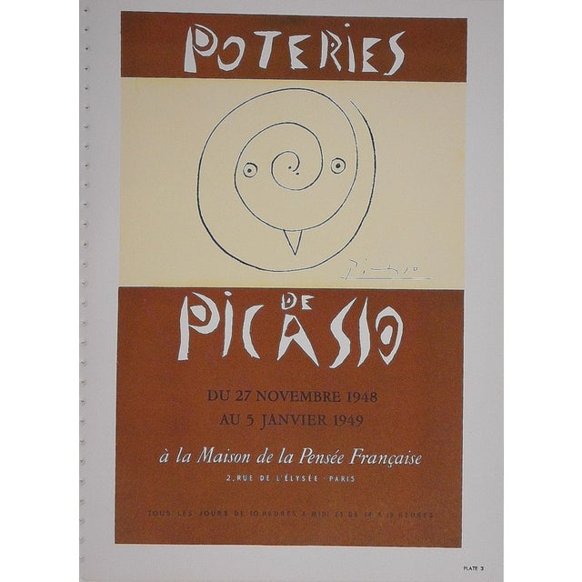 Vintage Picasso Lithograph Folio Size C.1957 - Image 1 of 2
