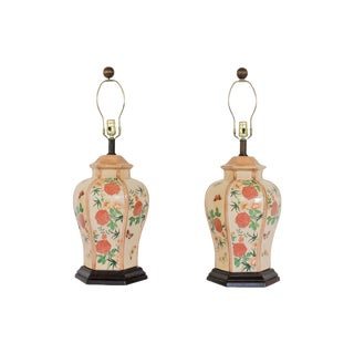 Asian-Style Ginger Jar Lamps - a Pair