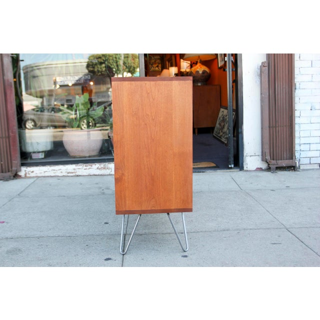 Mid-Century Modern Mid-Century Modern Solid Wood Hair Pin Leg Credenza For Sale - Image 3 of 12