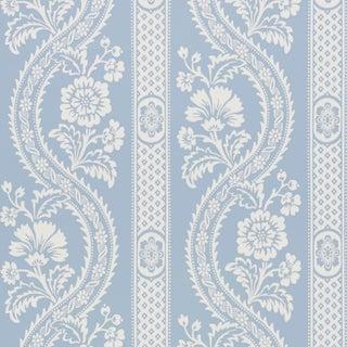 Sample - Schumacher Versailles Wallpaper in Blue For Sale