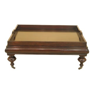 Ralph Lauren Large Mahogany Tray Top Coffee Table For Sale