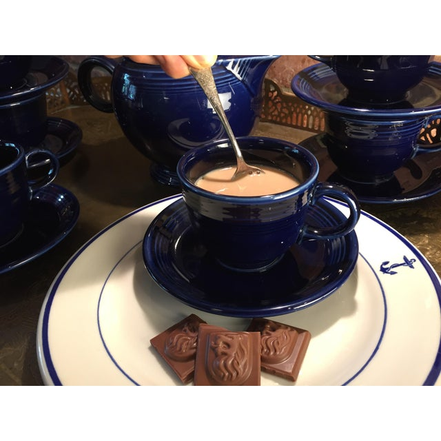 1992 Fiesta Navy Tea Set - 14 Pieces For Sale In Miami - Image 6 of 11